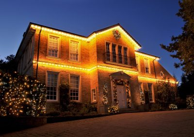 Big Residential house with lights