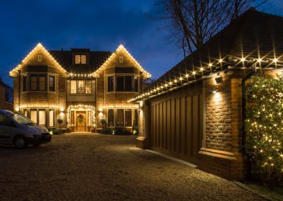 Residential house with lights in Buckinghamshire